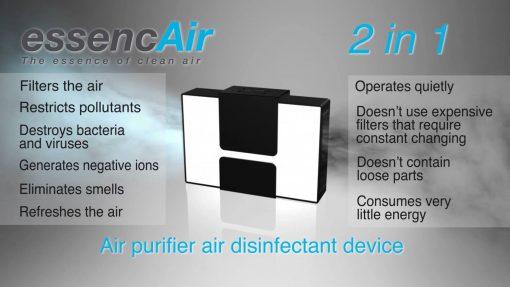 EssenceAir - BiPolar Air Ionizer for sale - high voltage
