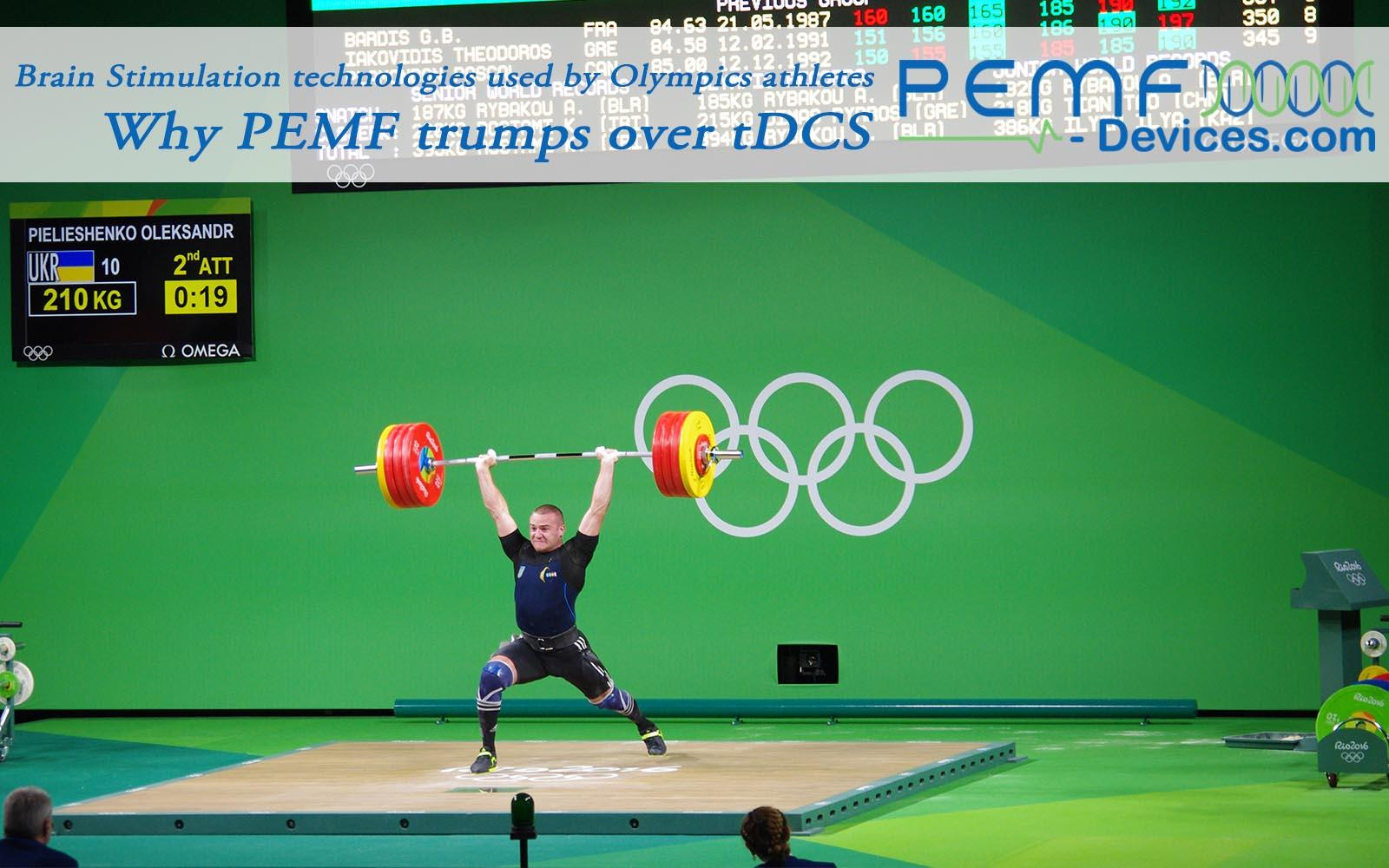 tdcs pemf brain stimulation olympics athletes performance enhancement