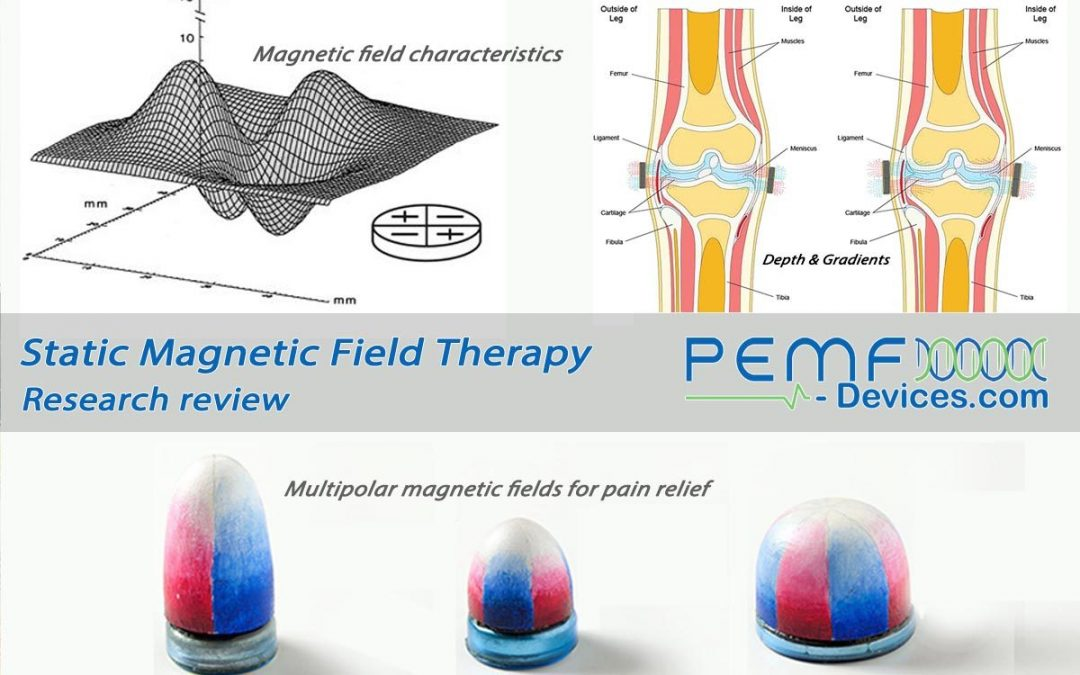 Static magnetic field therapy