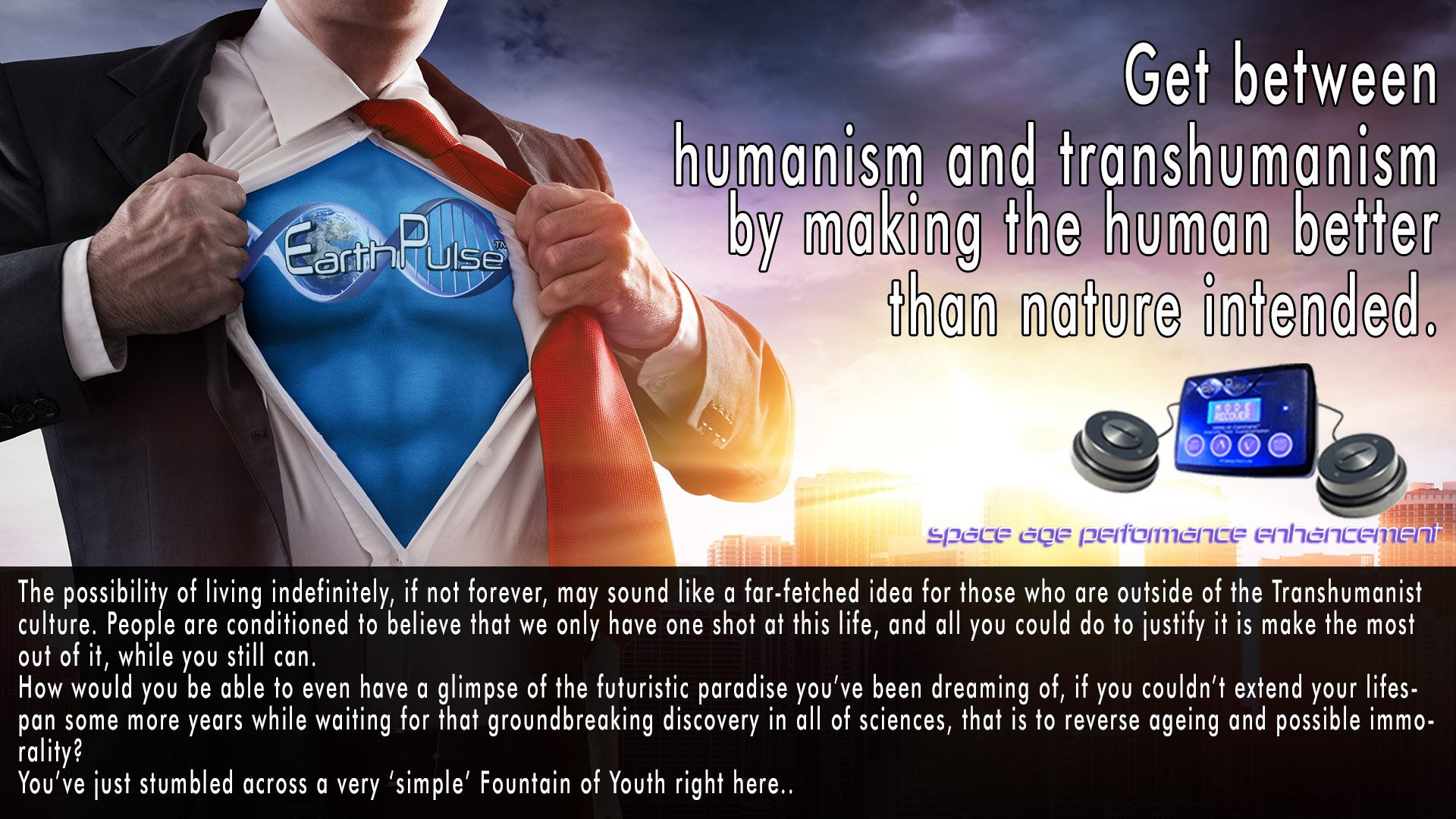 Transhumanize Yourself for Super Human Performance without Nanotechnology or Implants